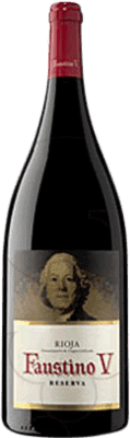 19,95 € Free Shipping | Red wine Faustino V Reserva D.O.Ca. Rioja The Rioja Spain Tempranillo, Mazuelo, Carignan Magnum Bottle 1,5 L