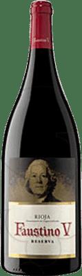 19,95 € Envío gratis | Vino tinto Faustino V Reserva D.O.Ca. Rioja La Rioja España Tempranillo, Mazuelo, Cariñena Botella Mágnum 1,5 L