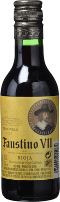 1,95 € Free Shipping | Rosé wine Faustino VII Joven D.O.Ca. Rioja The Rioja Spain Tempranillo, Grenache Small Bottle 18 cl