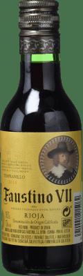 1,95 € Envoi gratuit | Vin rose Faustino VII Joven D.O.Ca. Rioja La Rioja Espagne Tempranillo, Grenache Petite Bouteille 18 cl