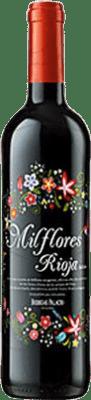 5,95 € Kostenloser Versand | Rotwein Palacio Mil Flores Joven D.O.Ca. Rioja La Rioja Spanien Tempranillo Flasche 75 cl