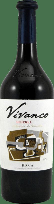 12,95 € Envío gratis | Vino tinto Vivanco Dinastía Reserva D.O.Ca. Rioja La Rioja España Tempranillo, Graciano Botella 75 cl