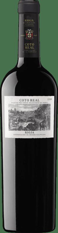 15,95 € Envío gratis | Vino tinto Coto de Rioja Coto Real Reserva D.O.Ca. Rioja La Rioja España Tempranillo, Garnacha, Graciano, Mazuelo, Cariñena Botella 75 cl