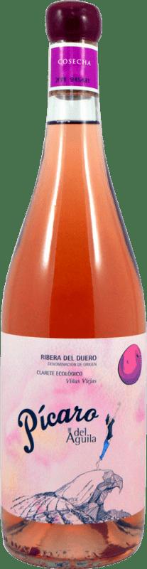 21,95 € Free Shipping | Rosé wine Dominio del Águila Pícaro Crianza D.O. Ribera del Duero Castilla y León Spain Tempranillo, Grenache, Bobal Bottle 75 cl
