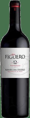9,95 € Envío gratis | Vino tinto Figuero 12 meses Crianza D.O. Ribera del Duero Castilla y León España Tempranillo Media Botella 50 cl