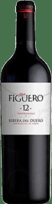 8,95 € Envío gratis | Vino tinto Figuero 12 meses Crianza D.O. Ribera del Duero Castilla y León España Tempranillo Media Botella 37 cl