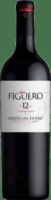 63,95 € Free Shipping | Red wine Figuero 12 meses Crianza D.O. Ribera del Duero Castilla y León Spain Tempranillo Jéroboam Bottle-Double Magnum 3 L
