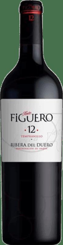 68,95 € Envío gratis | Vino tinto Figuero 12 meses Crianza D.O. Ribera del Duero Castilla y León España Tempranillo Botella Jéroboam-Doble Mágnum 3 L