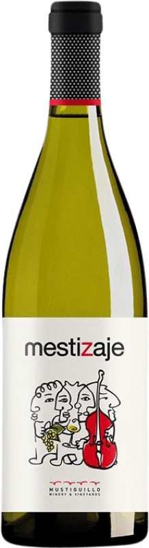 11,95 € Envio grátis | Vinho branco Mustiguillo Mestizaje Joven Levante Espanha Malvasía, Viognier, Merseguera Garrafa 75 cl