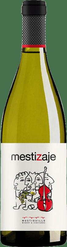8,95 € Envío gratis | Vino blanco Mustiguillo Mestizaje Joven Levante España Malvasía, Viognier, Merseguera Botella 75 cl