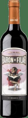 21,95 € Free Shipping | Red wine Peñafiel Barón de Filar Crianza D.O. Ribera del Duero Castilla y León Spain Tempranillo, Merlot, Cabernet Sauvignon Magnum Bottle 1,5 L