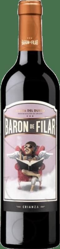 18,95 € Kostenloser Versand | Rotwein Peñafiel Barón de Filar Crianza D.O. Ribera del Duero Kastilien und León Spanien Tempranillo, Merlot, Cabernet Sauvignon Magnum-Flasche 1,5 L