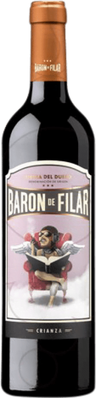 18,95 € Envío gratis | Vino tinto Peñafiel Barón de Filar Crianza D.O. Ribera del Duero Castilla y León España Tempranillo, Merlot, Cabernet Sauvignon Botella Mágnum 1,5 L
