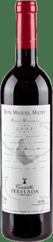 17,95 € Free Shipping | Red wine Perelada Don Miguel Mateu Especial Reserva D.O. Empordà Catalonia Spain Merlot, Syrah, Grenache, Cabernet Sauvignon, Mazuelo, Carignan Bottle 75 cl