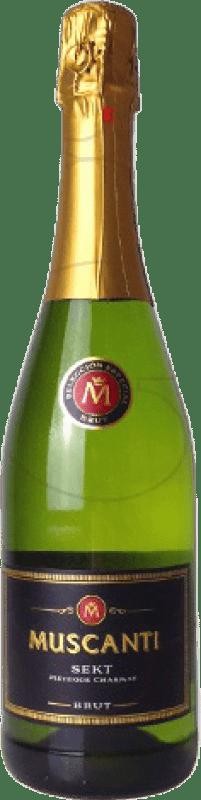 3,95 € Free Shipping | White sparkling Perelada Muscanti Brut Joven Catalonia Spain Macabeo, Xarel·lo, Parellada Bottle 75 cl