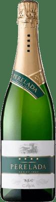 5,95 € Envío gratis | Espumoso blanco Perelada Seco D.O. Cava Cataluña España Macabeo, Xarel·lo, Parellada Botella 75 cl