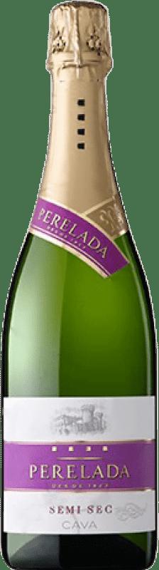 4,95 € Free Shipping | White sparkling Perelada Semi Dry D.O. Cava Catalonia Spain Macabeo, Xarel·lo, Parellada Bottle 75 cl