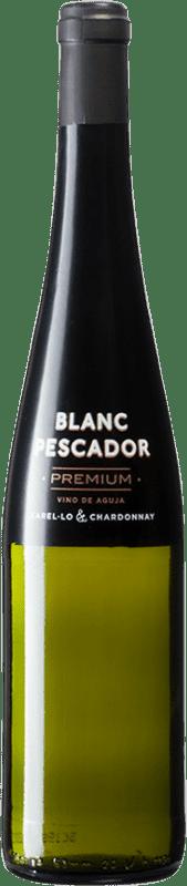 8,95 € Free Shipping | White sparkling Perelada Premium Pescador Catalonia Spain Xarel·lo, Chardonnay Bottle 75 cl