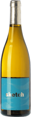 White wine Raúl Pérez Sketch Crianza Castilla y León Spain Albariño Bottle 75 cl
