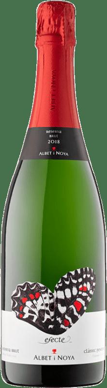 9,95 € Envío gratis | Espumoso blanco Albet i Noya Efecte Brut Reserva D.O. Cava Cataluña España Macabeo, Xarel·lo, Chardonnay, Parellada Botella 75 cl