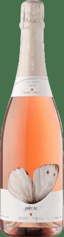11,95 € Envío gratis | Espumoso rosado Albet i Noya Efecte Rosat Brut Joven D.O. Penedès Cataluña España Pinot Negro Botella 75 cl