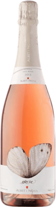 14,95 € Free Shipping | Rosé sparkling Albet i Noya Efecte Rosat Brut Joven D.O. Penedès Catalonia Spain Pinot Black Bottle 75 cl