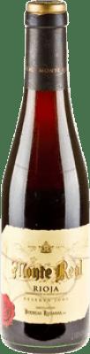 6,95 € Kostenloser Versand | Rotwein Bodegas Riojanas Monte Real Reserva D.O.Ca. Rioja La Rioja Spanien Tempranillo, Graciano, Mazuelo, Carignan Halbe Flasche 37 cl