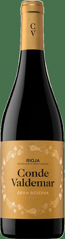 18,95 € Free Shipping | Red wine Valdemar Conde de Valdemar Gran Reserva D.O.Ca. Rioja The Rioja Spain Tempranillo, Graciano, Maturana Tinta Bottle 75 cl