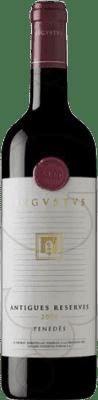 25,95 € Free Shipping | Red wine Augustus Antigues Reserves Reserva D.O. Penedès Catalonia Spain Merlot, Cabernet Sauvignon, Cabernet Franc Bottle 75 cl