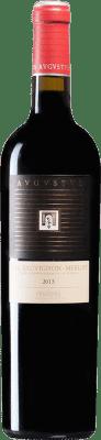9,95 € Free Shipping | Red wine Augustus Crianza D.O. Penedès Catalonia Spain Merlot, Cabernet Sauvignon Bottle 75 cl