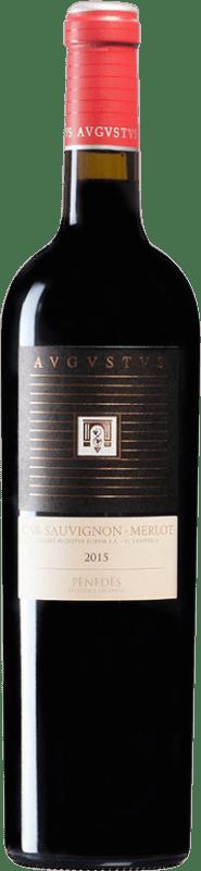 8,95 € Free Shipping | Red wine Augustus Crianza D.O. Penedès Catalonia Spain Merlot, Cabernet Sauvignon Bottle 75 cl
