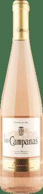 5,95 € Free Shipping | Rosé wine Vinícola Navarra Las Campanas Joven D.O. Navarra Navarre Spain Grenache Bottle 75 cl