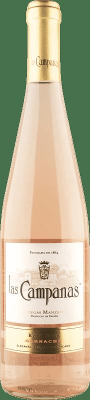 4,95 € Free Shipping | Rosé wine Vinícola Navarra Las Campanas Joven D.O. Navarra Navarre Spain Grenache Bottle 75 cl