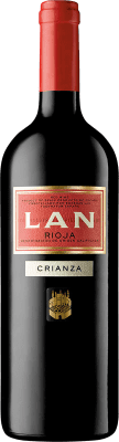 14,95 € Free Shipping | Red wine Lan Crianza D.O.Ca. Rioja The Rioja Spain Tempranillo, Mazuelo, Carignan Magnum Bottle 1,5 L