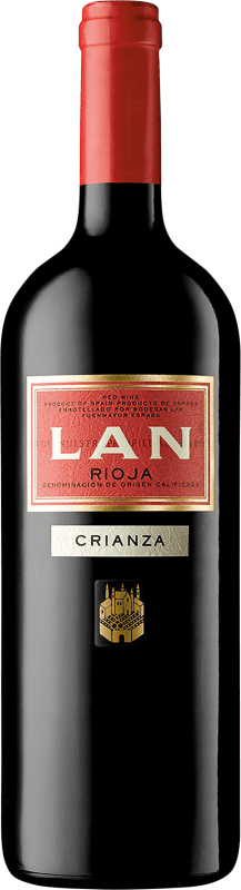 15,95 € Free Shipping | Red wine Lan Crianza D.O.Ca. Rioja The Rioja Spain Tempranillo, Mazuelo, Carignan Magnum Bottle 1,5 L