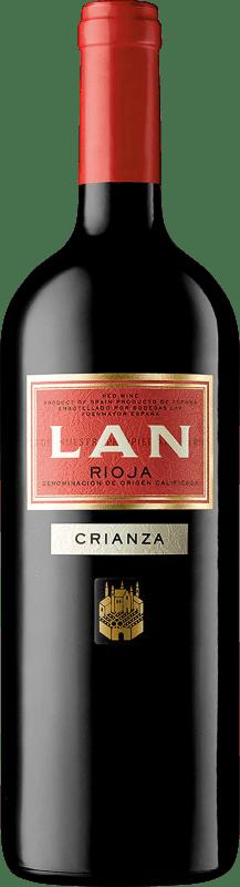 12,95 € Envío gratis | Vino tinto Lan Crianza D.O.Ca. Rioja La Rioja España Tempranillo, Mazuelo, Cariñena Botella Mágnum 1,5 L