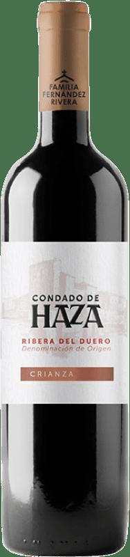 11,95 € Free Shipping | Red wine Condado de Haza Crianza D.O. Ribera del Duero Castilla y León Spain Tempranillo Bottle 75 cl
