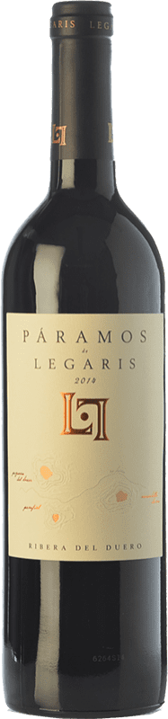22,95 € Free Shipping | Red wine Legaris Páramos D.O. Ribera del Duero Castilla y León Spain Tempranillo Bottle 75 cl