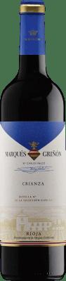 4,95 € Envío gratis | Vino tinto Marqués de Griñón Crianza D.O.Ca. Rioja La Rioja España Tempranillo Botella 75 cl