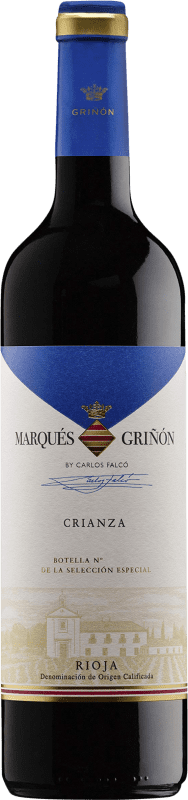 4,95 € Envoi gratuit | Vin rouge Marqués de Griñón Crianza D.O.Ca. Rioja La Rioja Espagne Tempranillo Bouteille 75 cl