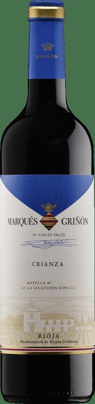 6,95 € Spedizione Gratuita   Vino rosso Marqués de Griñón Crianza 2011 D.O.Ca. Rioja La Rioja Spagna Tempranillo Bottiglia 75 cl