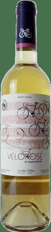 11,95 € Envío gratis | Vino rosado Tianna Negre Vélo Rosé Joven D.O. Binissalem Islas Baleares España Mantonegro Botella 75 cl