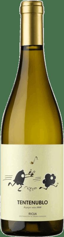 12,95 € Envío gratis | Vino blanco Tentenublo Joven D.O.Ca. Rioja La Rioja España Malvasía, Macabeo Botella 75 cl