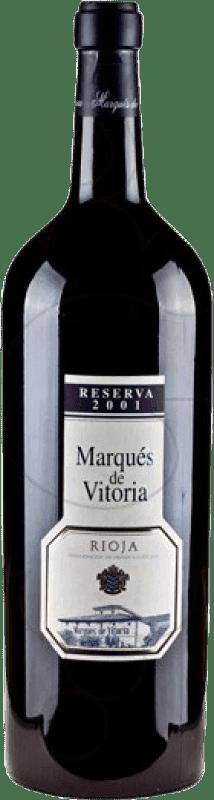 72,95 € Envoi gratuit   Vin rouge Marqués de Vitoria Reserva 2007 D.O.Ca. Rioja La Rioja Espagne Tempranillo Bouteille Spéciale 5 L