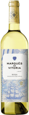 3,95 € Free Shipping | White wine Marqués de Vitoria Joven D.O.Ca. Rioja The Rioja Spain Macabeo Bottle 75 cl