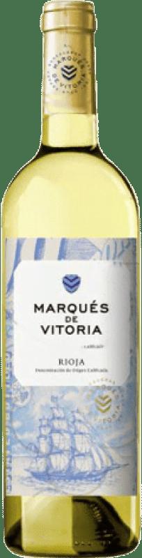 4,95 € Free Shipping | White wine Marqués de Vitoria Joven D.O.Ca. Rioja The Rioja Spain Macabeo Bottle 75 cl