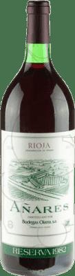 57,95 € Kostenloser Versand | Rotwein Olarra Añares Gran Reserva 1982 D.O.Ca. Rioja La Rioja Spanien Magnum-Flasche 1,5 L