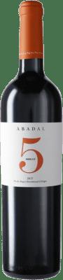 14,95 € Envío gratis | Vino tinto Masies d'Avinyó Abadal 5 Reserva D.O. Pla de Bages Cataluña España Merlot Botella 75 cl
