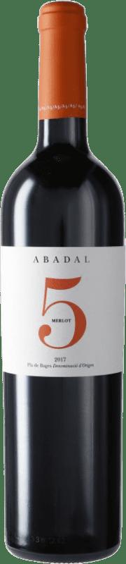 14,95 € Free Shipping | Red wine Masies d'Avinyó Abadal 5 Reserva D.O. Pla de Bages Catalonia Spain Merlot Bottle 75 cl