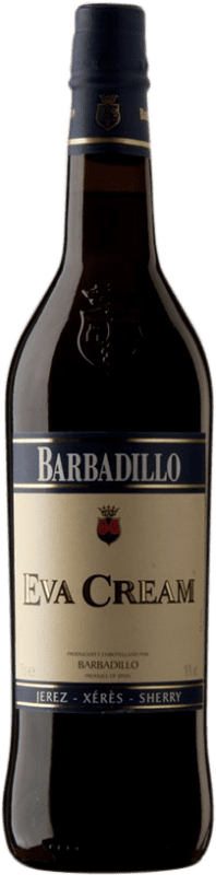 8,95 € Free Shipping | Fortified wine Barbadillo Eva Cream D.O. Jerez-Xérès-Sherry Andalucía y Extremadura Spain Palomino Fino Bottle 75 cl
